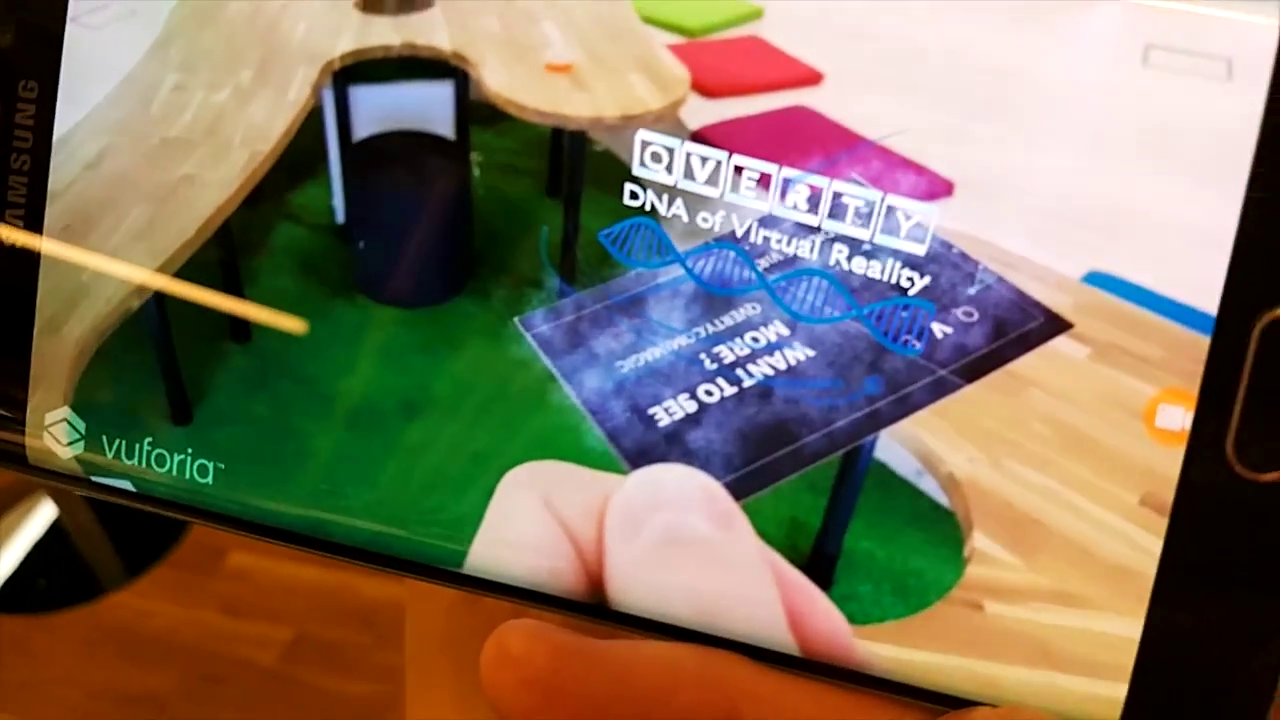 Ar business card qverty augmented and virtual reality business ar business card qverty reheart Choice Image