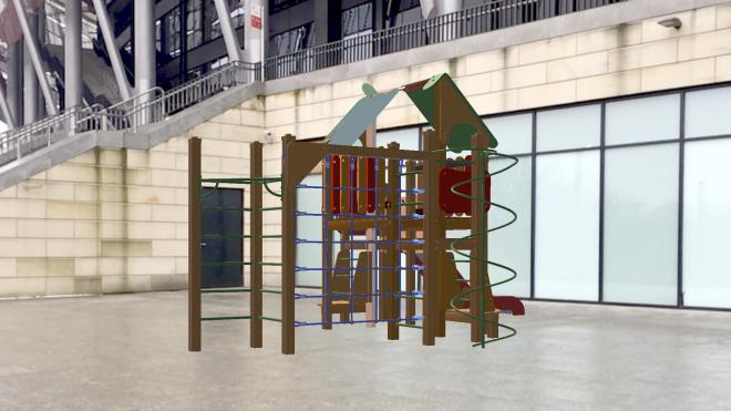 Augmented reality children playground