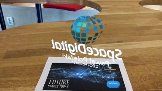 Wizytówka biznesowa AR – Space Digital