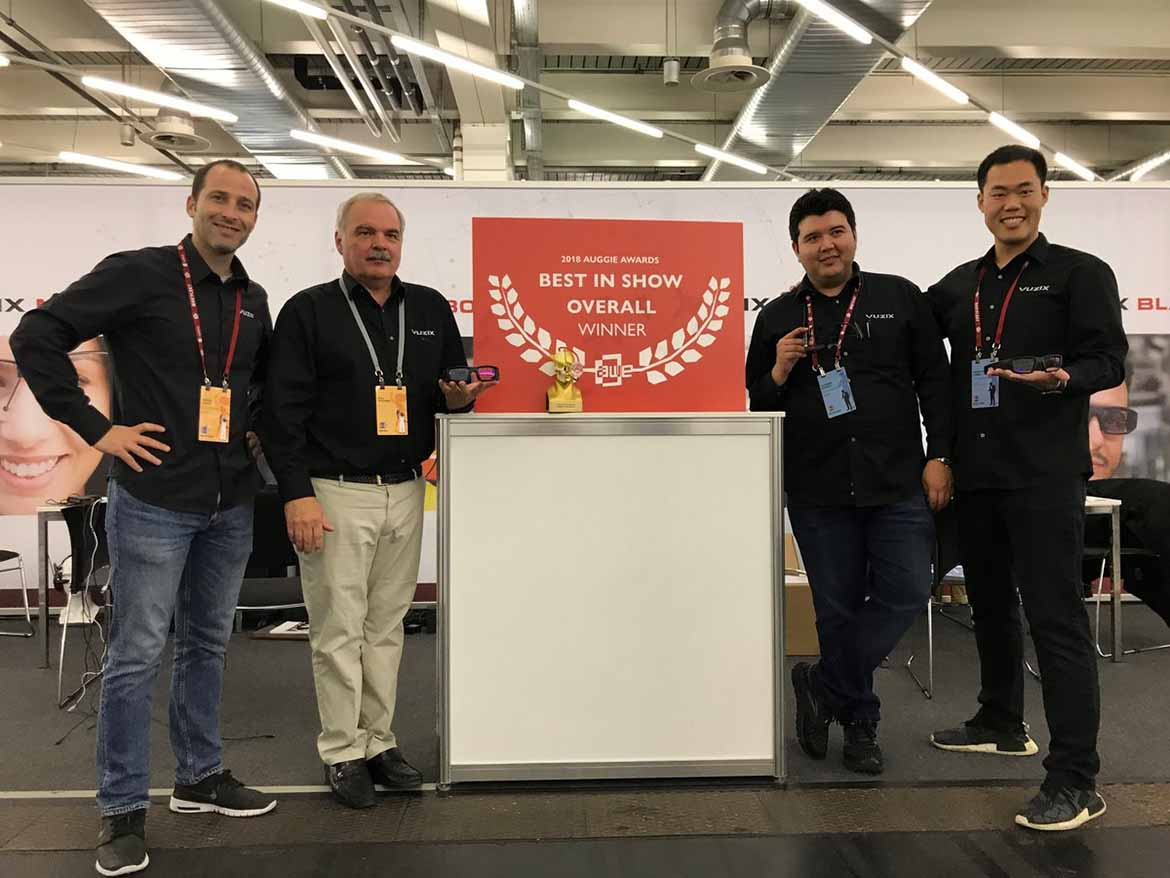 VR AWE EU 2018 conference Expo best in show winner