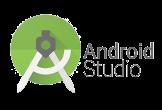 Android Studio label transparent logo