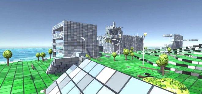 Cube town virtual reality VR MojoApps
