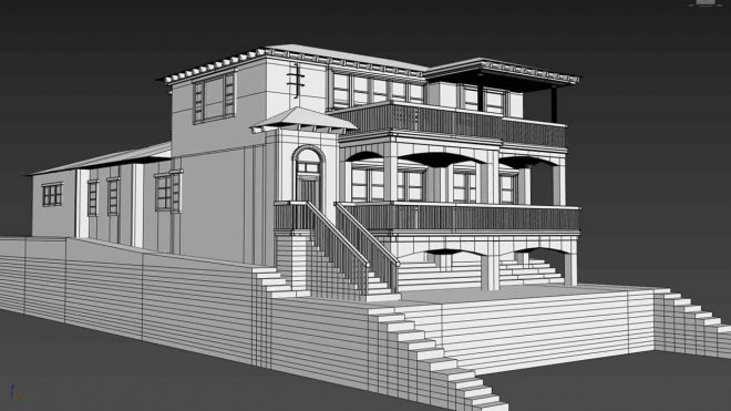 3D Modelling houses Mojo apps CALIFORNIA EVERGREEN