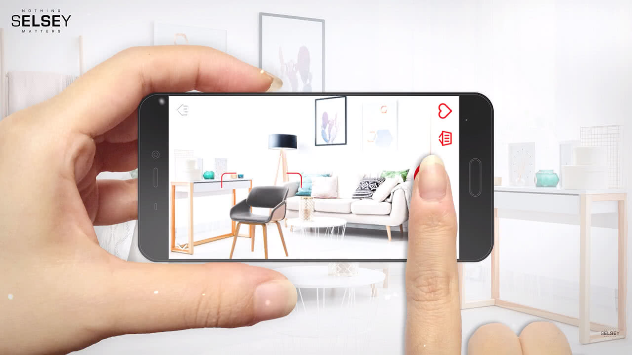 Selsey mobile app aumented reality furniture