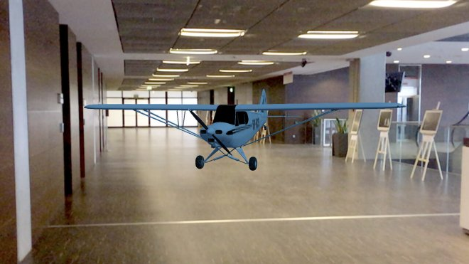 Augmented Reality plane in office