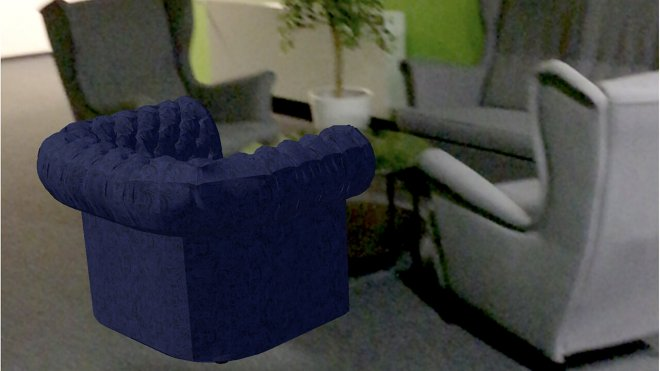 AR Augmented Reality Mojo Apps sofa armchair Selsey