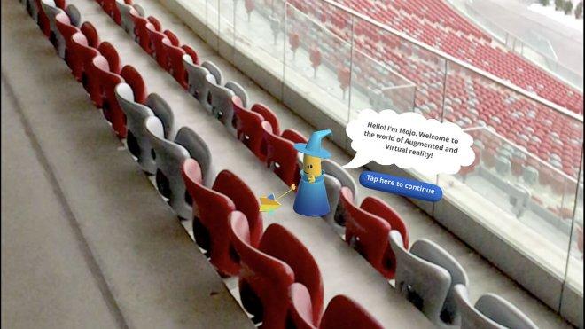 AR Augmented reality Stadion Narodowy Mojo Apps