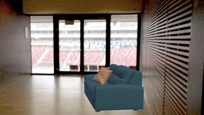 AR Augmented reality Mojo Apps sofa stadion