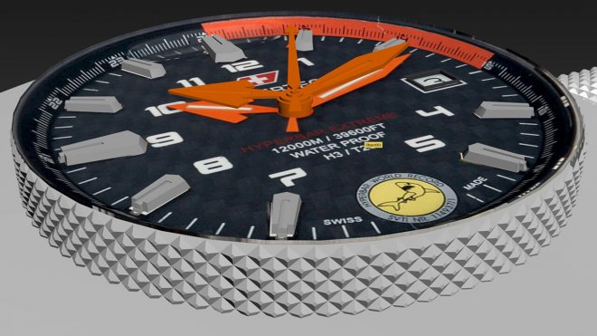 Hypertec 3D modeling watch