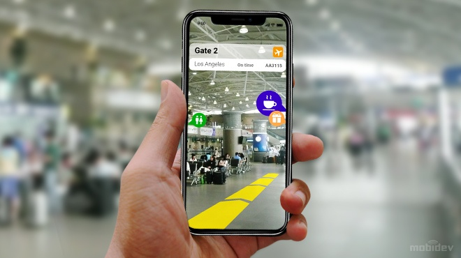 Augmented reality location suggestions on smartphone
