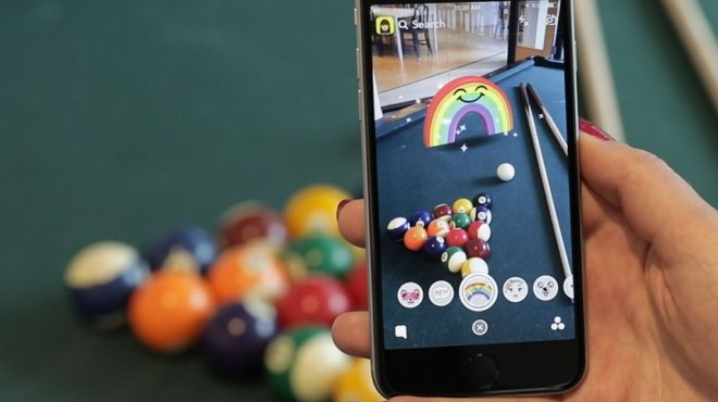 Augmented reality Pool game on smartphone