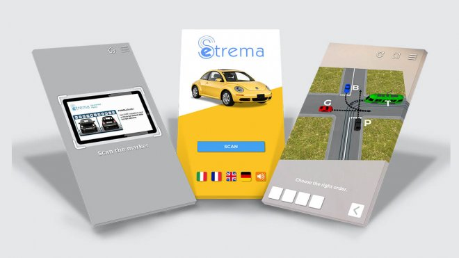 Autoscuola AR road rules app on phones