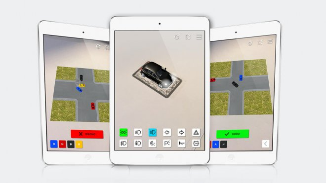 Autoscuola AR road rules app on iPad